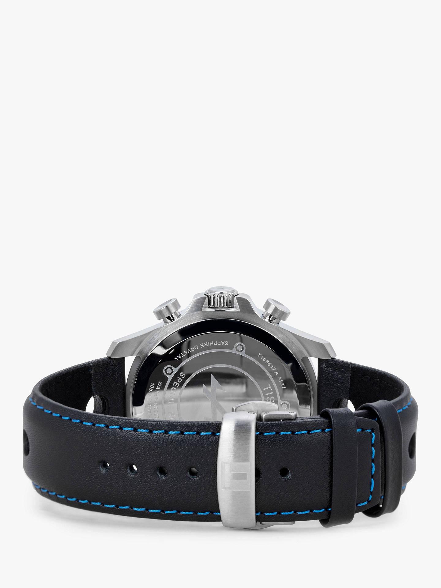 Tissot T1064171620101 Men S V8 Alpine Chronograph Date Leather Strap