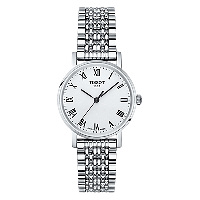 Tissot T1092101103300 Women's Everytime Bracelet Strap Watch, Silver/White
