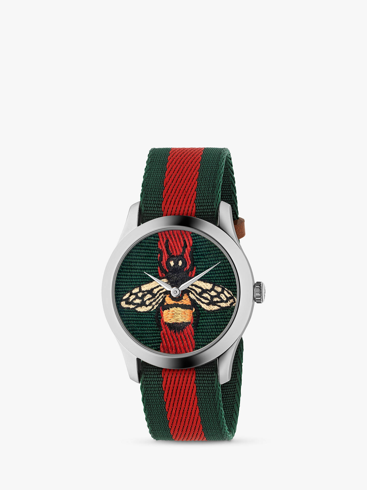 630723221dd Buy Gucci YA1264060 Unisex G-Timeless Fabric Strap Watch