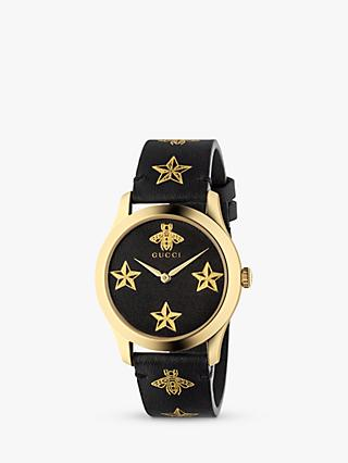 4ac3529b12d Gucci YA1264055 Unisex G-Timeless Leather Strap Watch