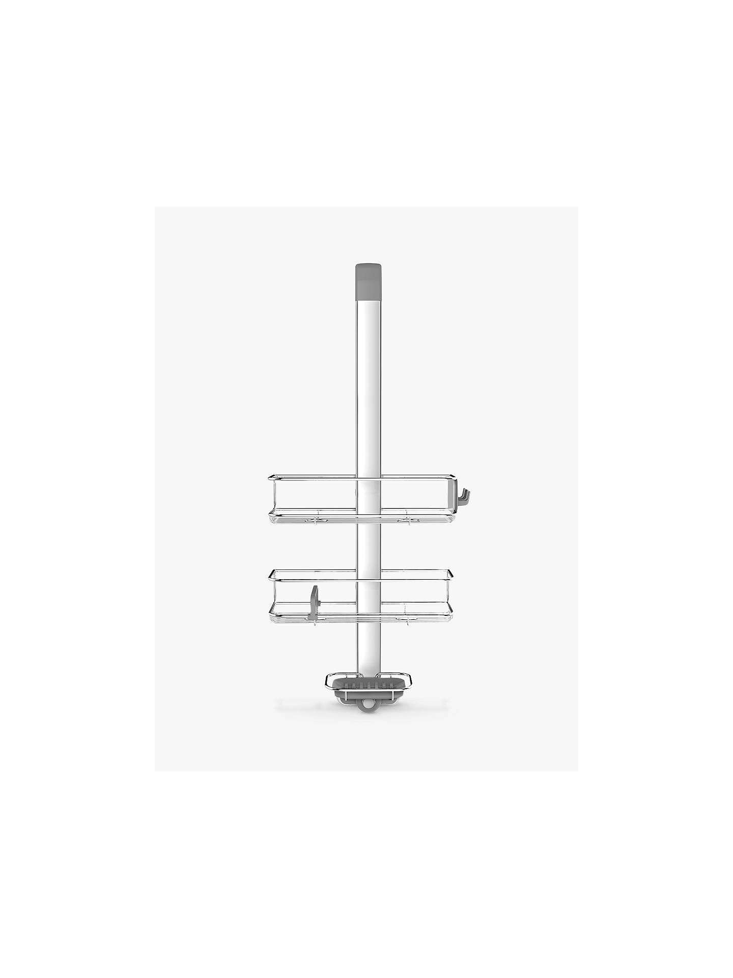 Simplehuman Over Door Shower Caddy At John Lewis Partners