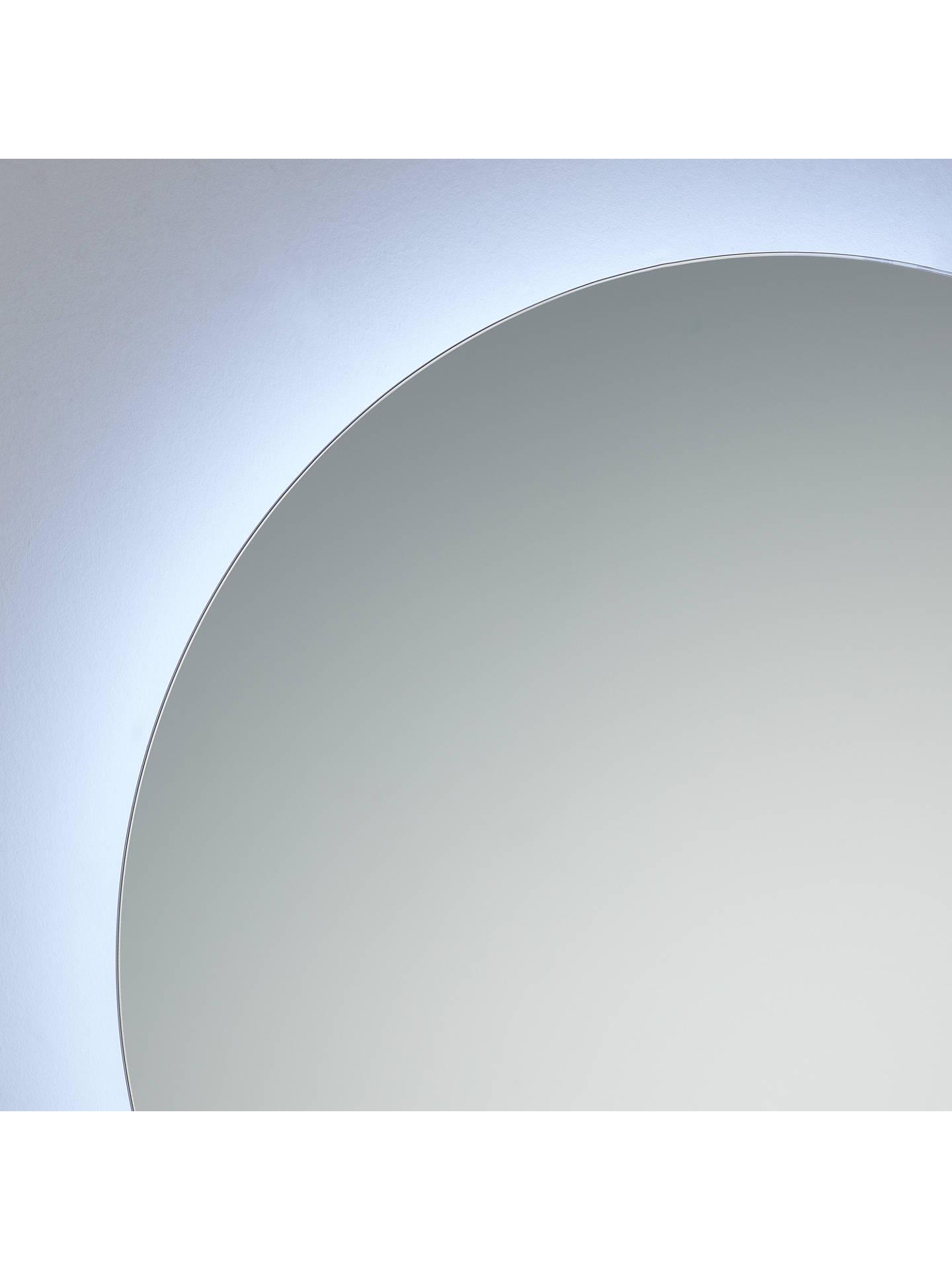 John Lewis Partners Halo Illuminated Round Bathroom Mirror At John Lewis Partners