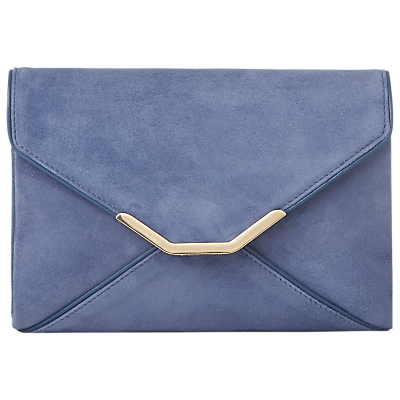 L.K.Bennett Alena Clutch Bag, Powder Blue