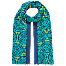 Buy Brora Stained Glass Scarf, Indigo/Turquoise Online at johnlewis.com