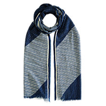 Buy Brora Graphic Print Scarf, Blue Online at johnlewis.com