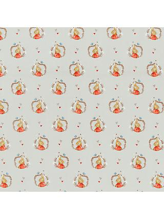 Peter Rabbit Betsy Rabbit Print Fabric, Mid Grey