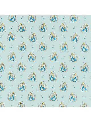 Peter Rabbit Print Fabric, Light Grey