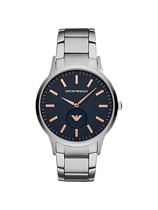 Emporio Armani Men's Textured Dial Bracelet Strap Watch