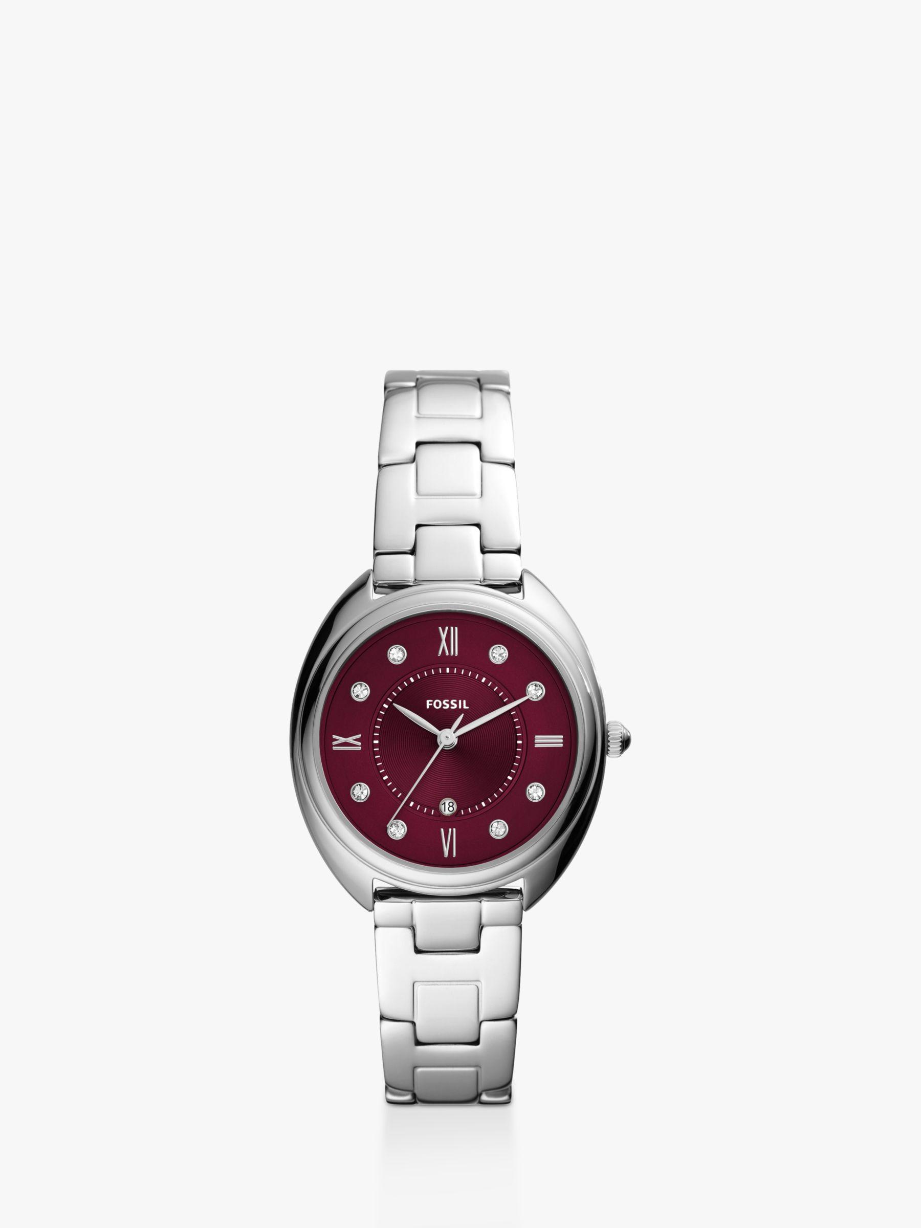 Fossil Fossil Women's Jacqueline Crystal Date Bracelet Strap Watch