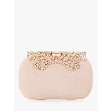 Buy Dune Estella Jewel Embellished Suede Clutch, Blush Online at johnlewis.com
