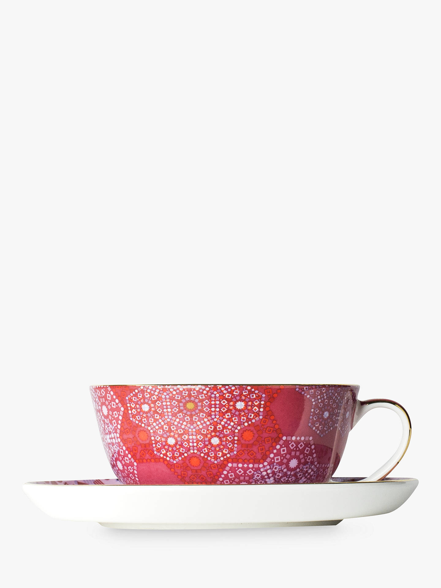 BuyT2 Moroccan Tealeidoscope Perfect Day Cup and Saucer, Rose, 200ml Online at johnlewis.com