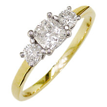 Buy EWA 18ct Yellow Gold and Platinum 3 Diamond Ring, 0.48ct Online at johnlewis.com