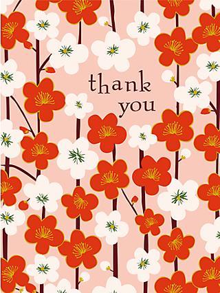 Notecards invitations john lewis caroline gardner kimono floral thank you notecards pack of 10 stopboris Image collections
