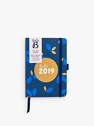 Busy B To Do Floral Diary 2019, Navy