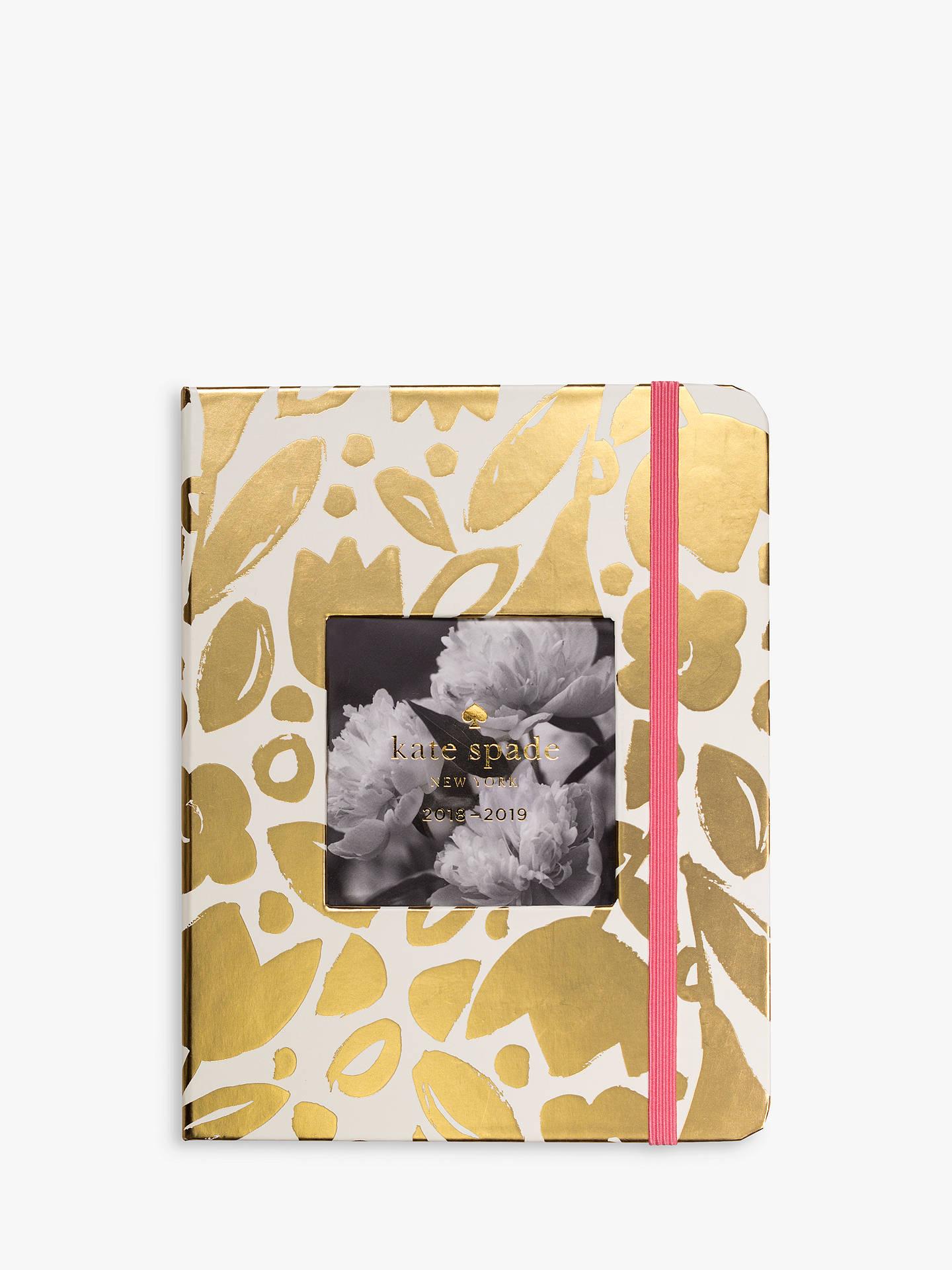 Kate Spade New York Medium Floral Mid Year 20182019 Diary Gold At