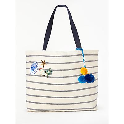 Star Mela Tami Large Tote Bag, Ecru/Navy