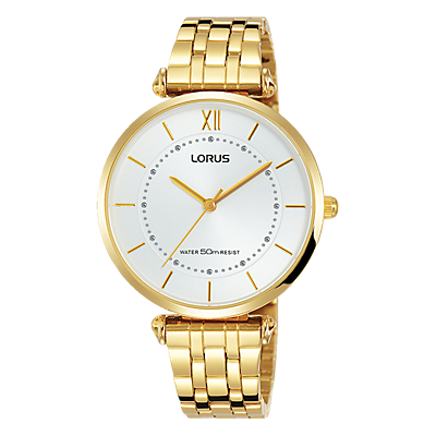 Lorus RG292MX9 Women's Round Gold Stainless Steel