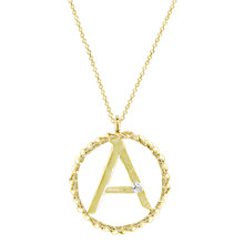 Buy London Road 9ct Gold Diamond Initial Pendant Necklace Online at johnlewis.com