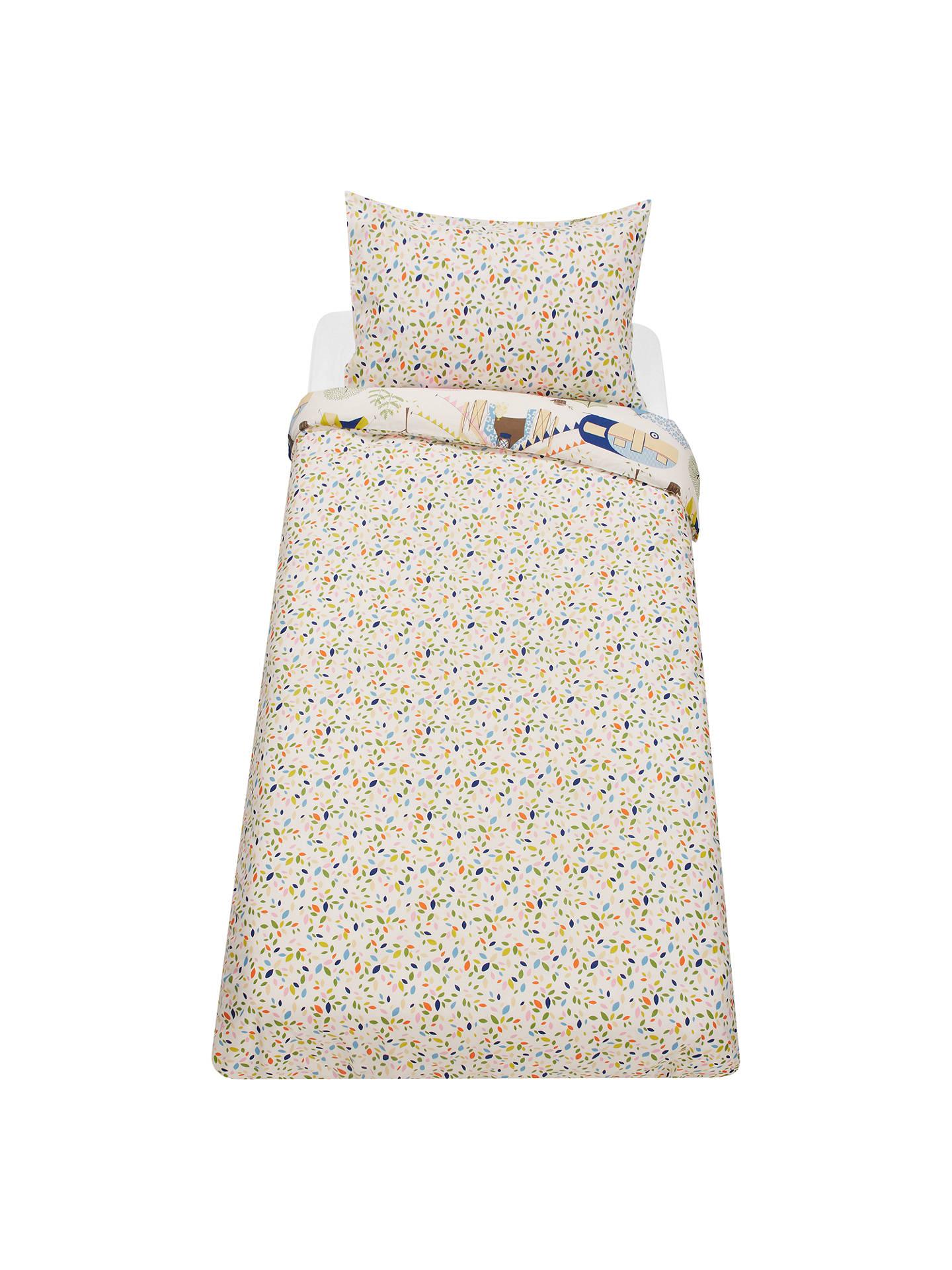 little home at John Lewis Camping Reversible Duvet Cover and Pillowcase Set, Single, Multi