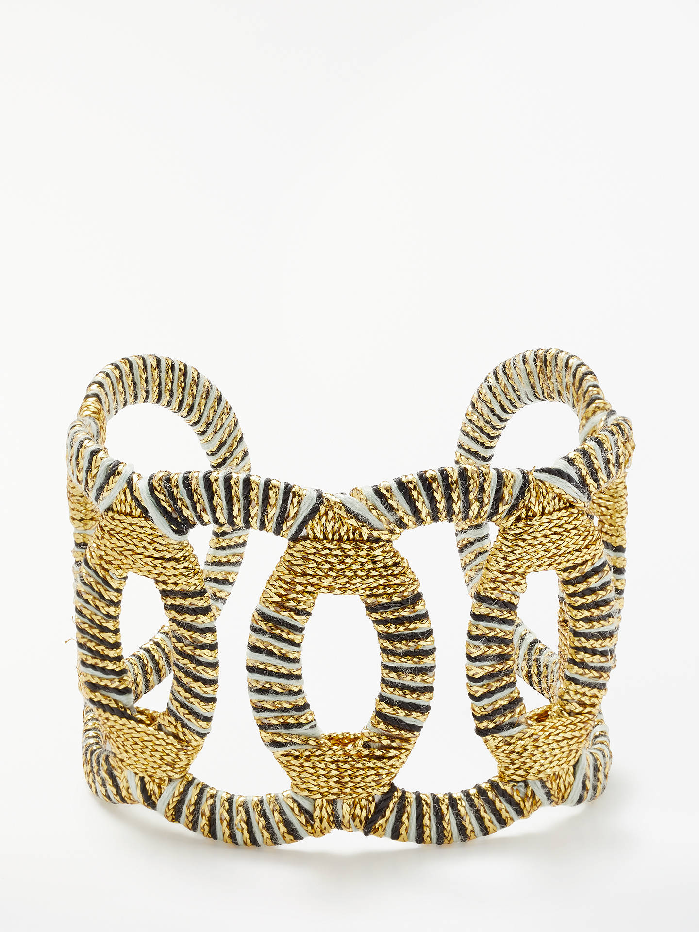 Buyboks&baum Osiris Crochet Cuff, Gold/Silver Online at johnlewis.com