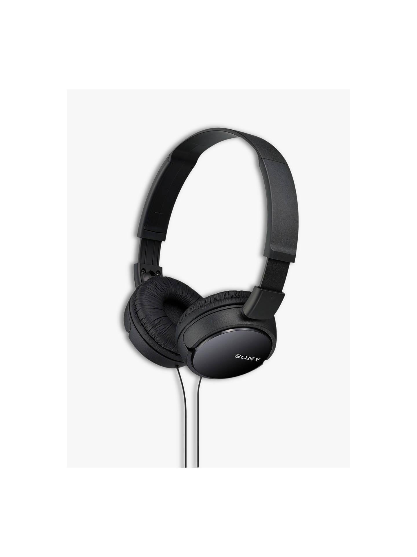 b7fd2674c99 Buy Sony MDR-ZX110AP On-Ear Headphones with Mic/Remote, Black Online ...