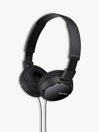 Sony MDR-ZX110AP On-Ear Headphones with Mic/Remote, Black