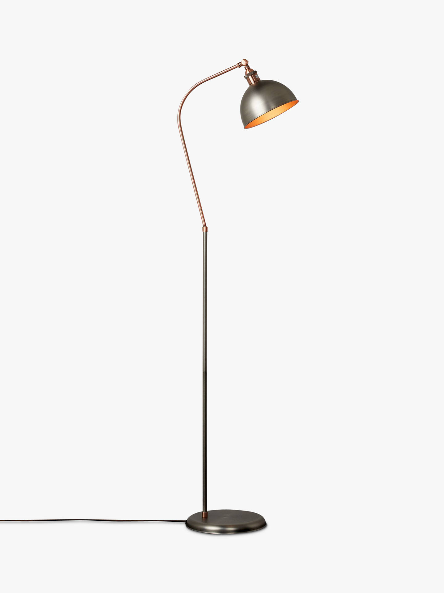 Buyjohn lewis partners baldwin floor lamp pewter online at johnlewis