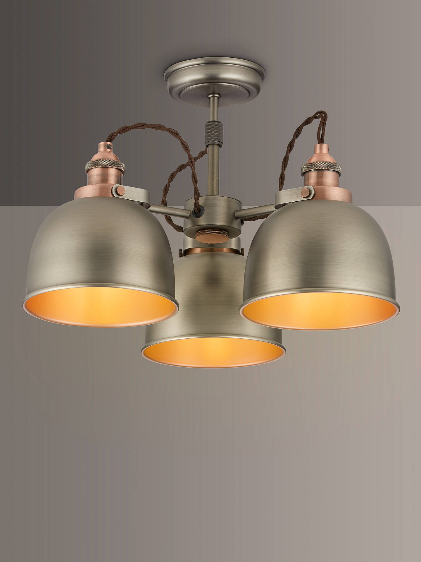 Baldwin Semi Flush 3 Arm Ceiling Light
