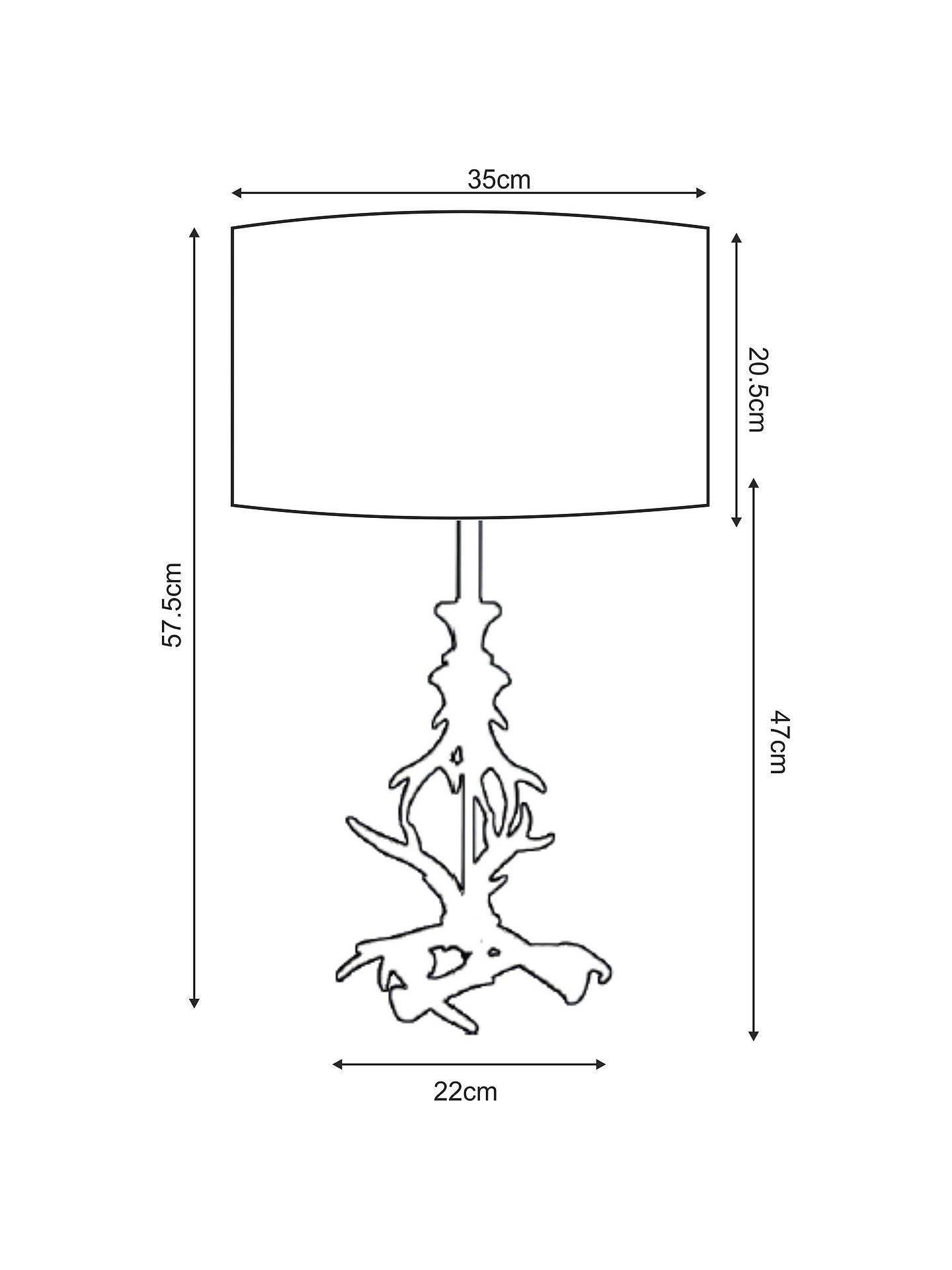 John Lewis & Partners Antlers Table Lamp at John Lewis