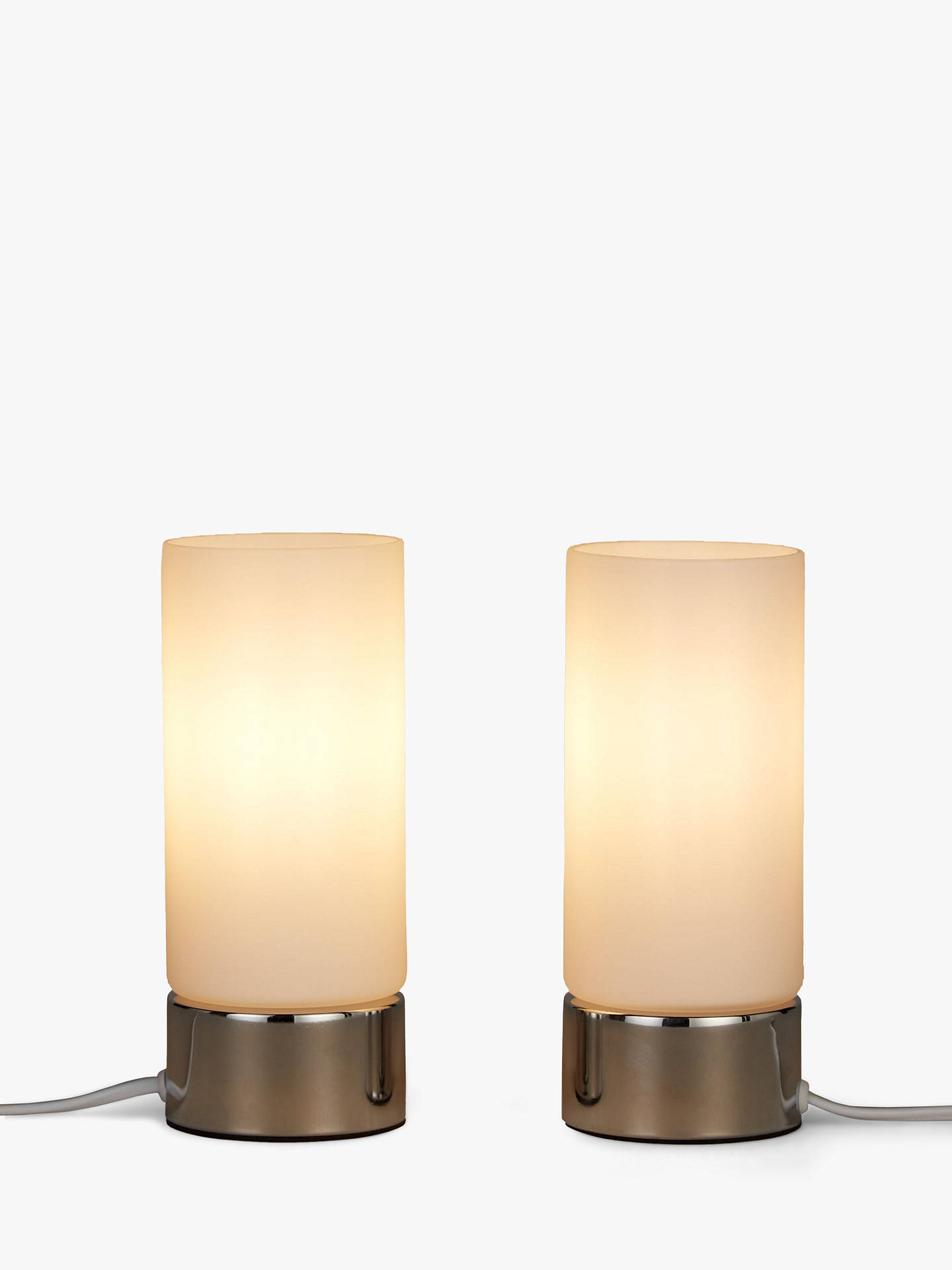 John Lewis Partners Cara Gl Touch Lamps Set Of 2