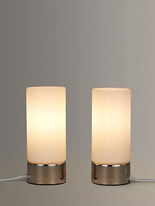 John Lewis & Partners Cara Glass Touch Lamps, Set of 2