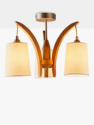 John Lewis & Partners Linden Ceiling Light, FSC-Certified (Oak)