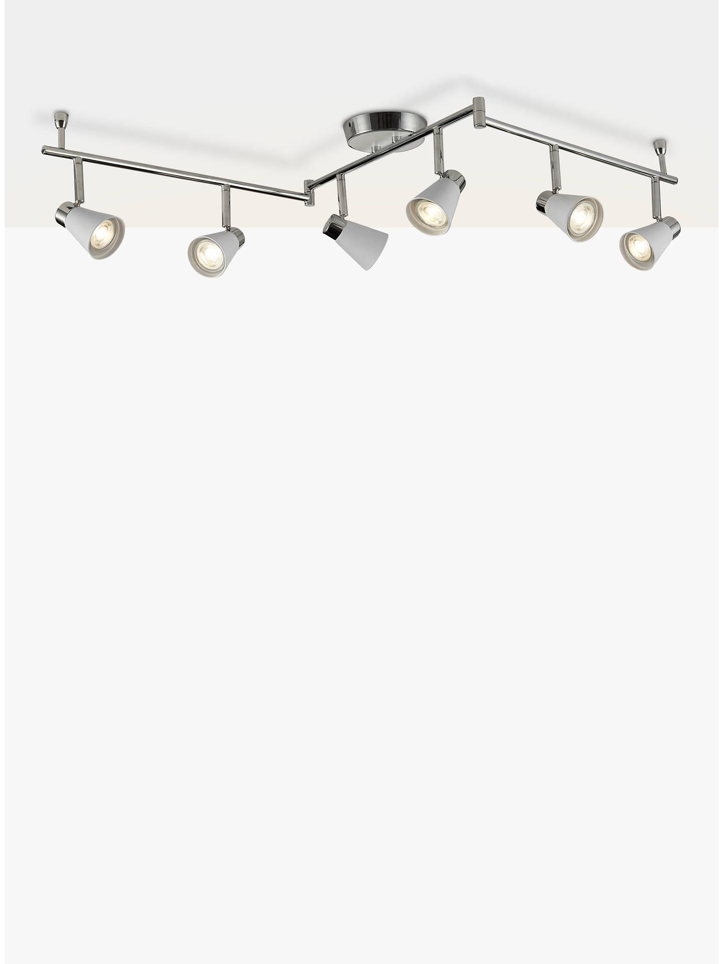 newest collection 8d3d7 f825e John Lewis & Partners Logan GU10 LED 6 Spotlight Ceiling Bar, Grey