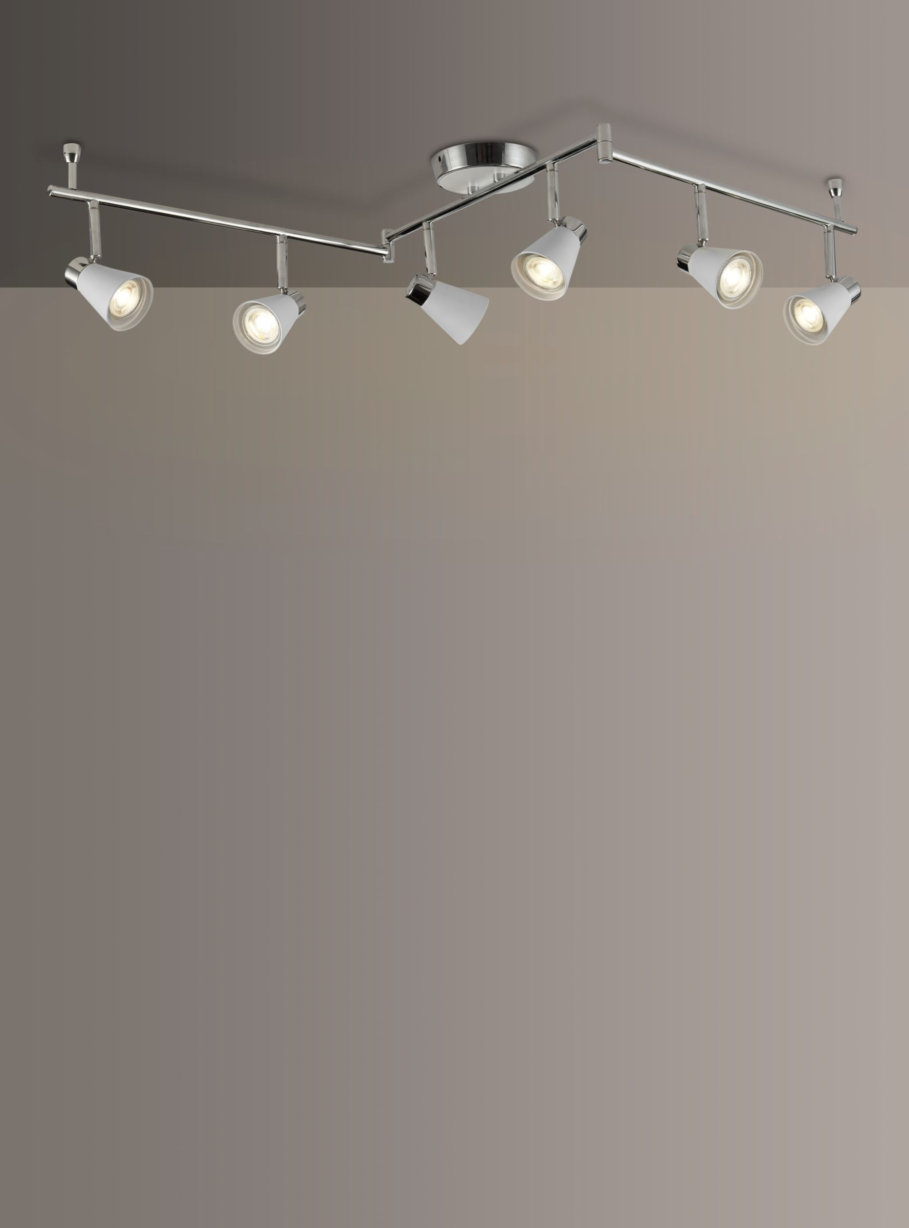 Logan Gu10 Led 6 Spotlight Ceiling Bar