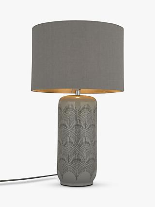 John Lewis U0026 Partners Pavone Table Lamp, Grey