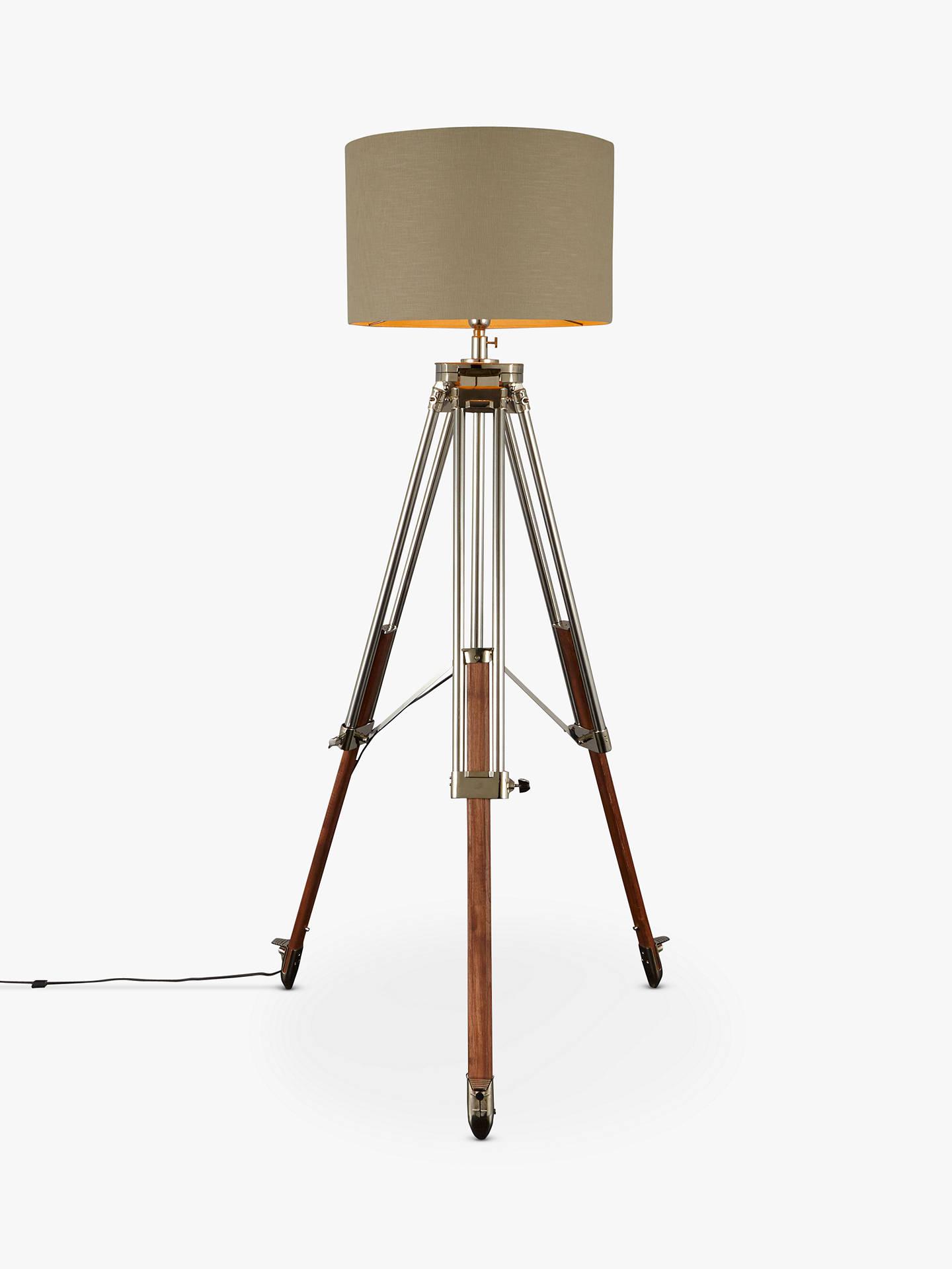 John Lewis & Partners Tommy Large Tripod Floor Lamp, Natural