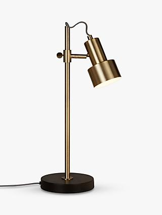 Table lamps shop for bedside and side table lamps at john lewis john lewis partners shelby led task table lamp brassblack aloadofball Choice Image
