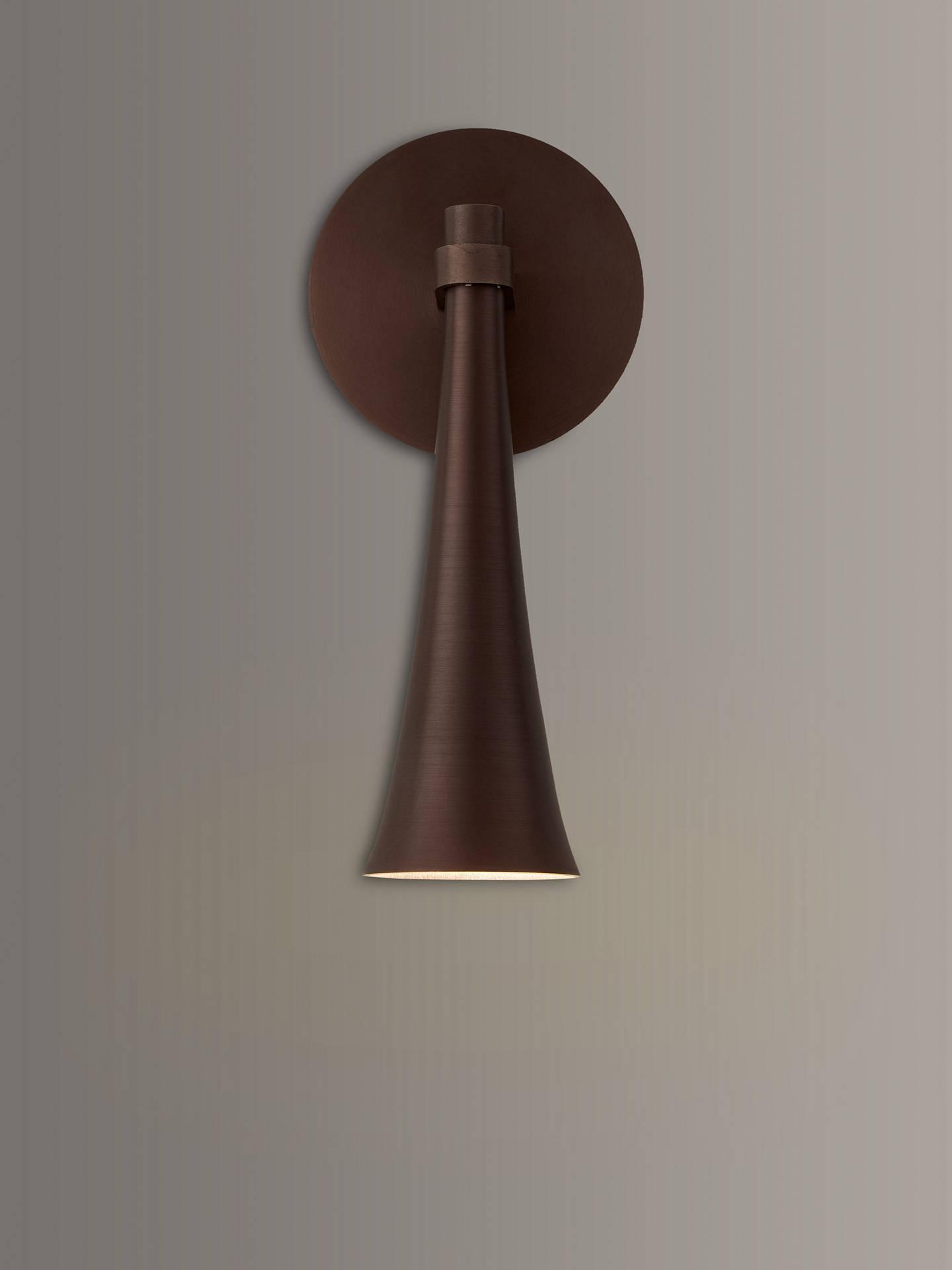 fc4fc686e110 Buy John Lewis & Partners Wyatt LED Cone Wall Light, Bronze Online at  johnlewis.