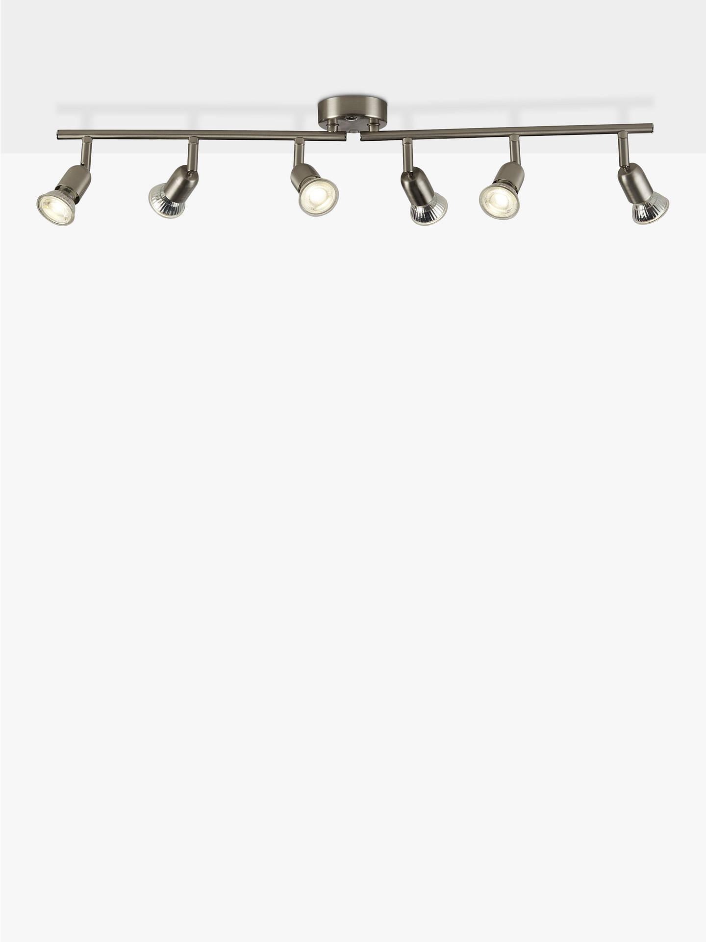 newest 671de 38b86 House by John Lewis Keely 6 Spotlight Ceiling Bar, Brushed Steel
