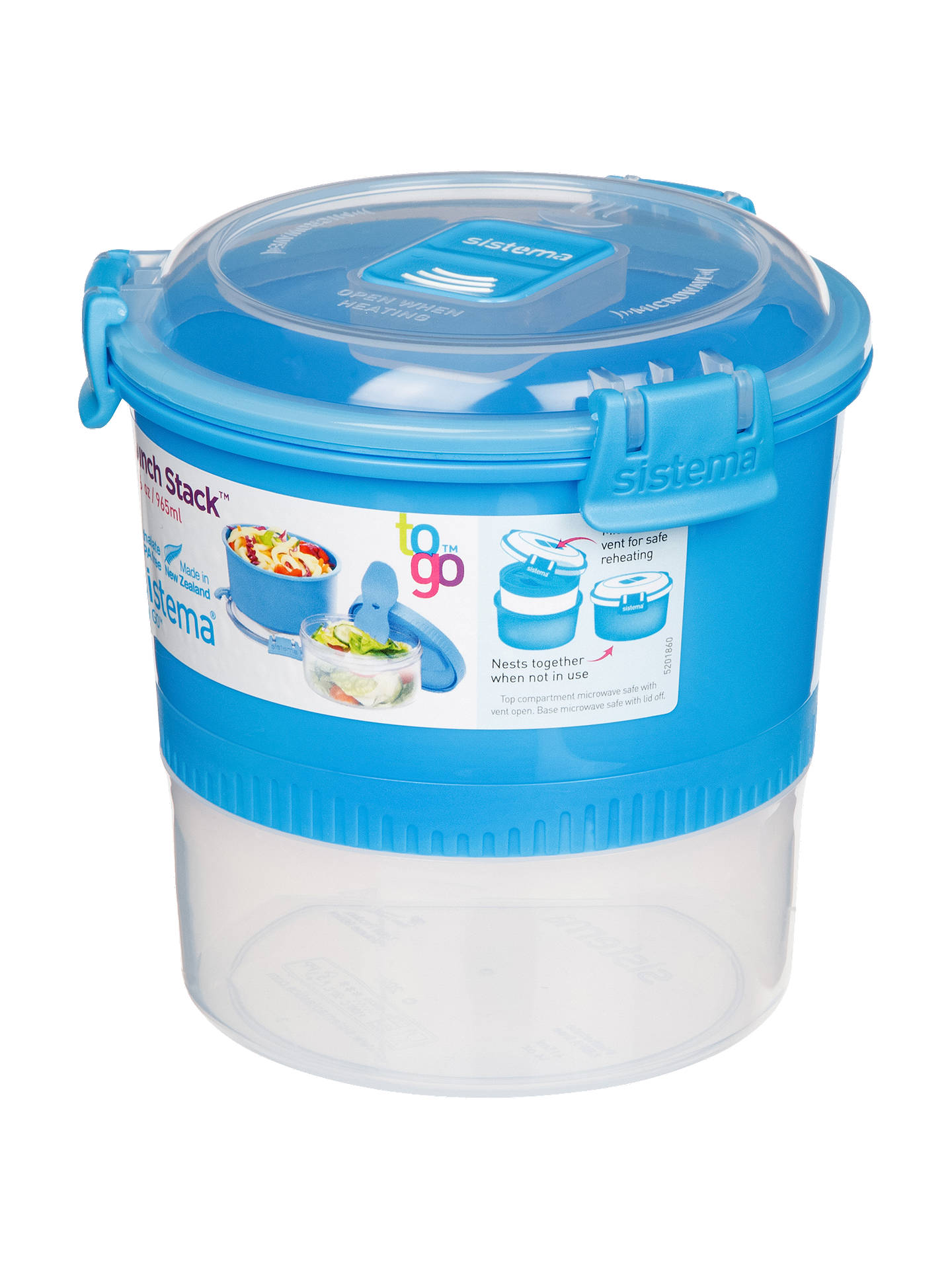 Sistema To Go Polypropylene Lunch Stack 965ml Orted