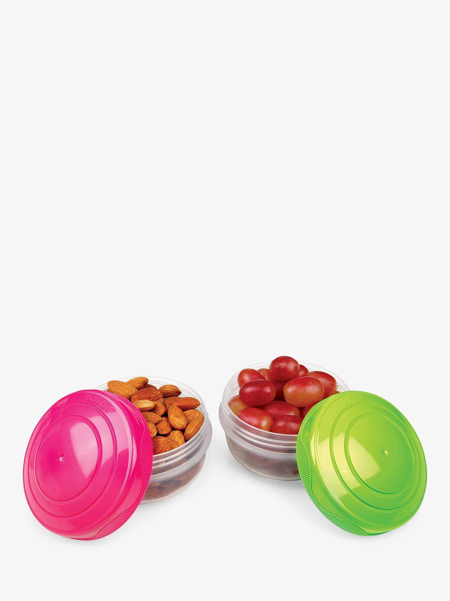 BuySistema To-Go Stacking Polypropylene Portion Pod, Set of 2 Online at johnlewis.com