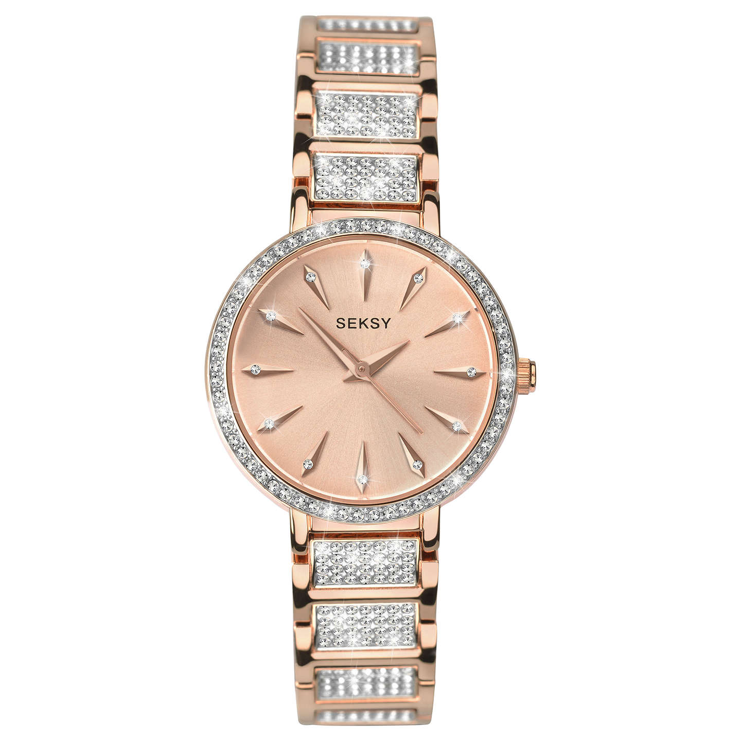 main seksy rose crystal buysekonda johnlewis watch gold rsp sekonda bracelet women pdp s watches at strap swarovski online