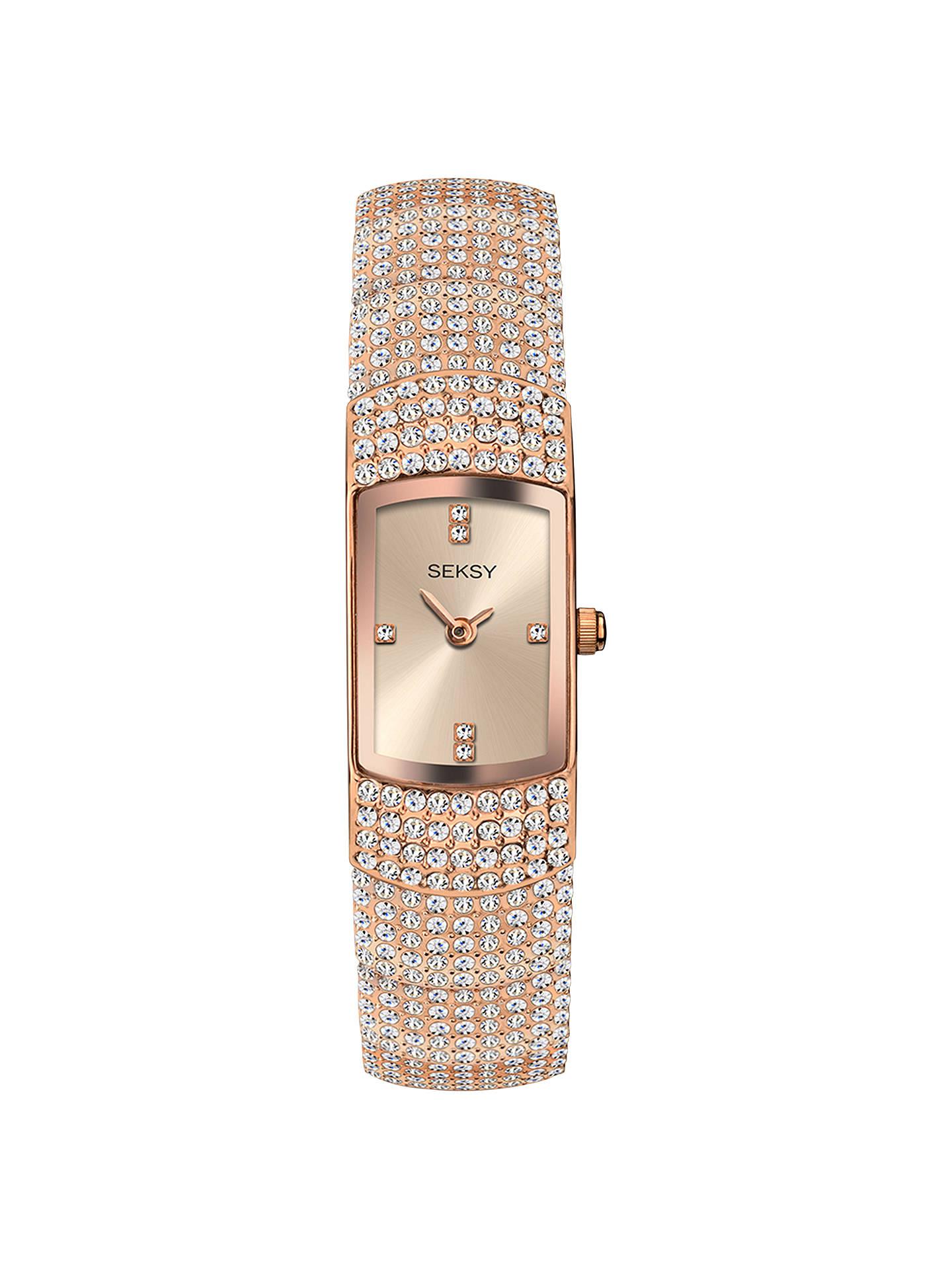 2336a345a614 Buy Sekonda 2374.37 Women s Seksy Swarovski Crystal Oblong Bracelet Strap  Watch