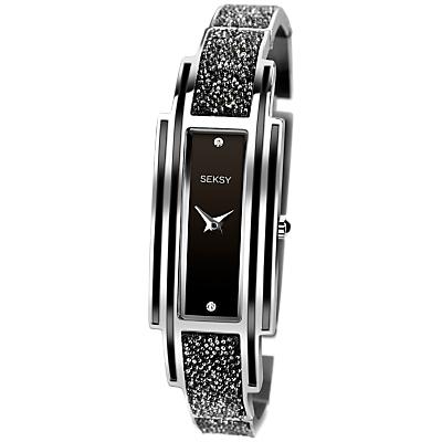 Sekonda 2583.37 Women's Seksy Swarovski Crystal Bracelet Strap Watch, Black
