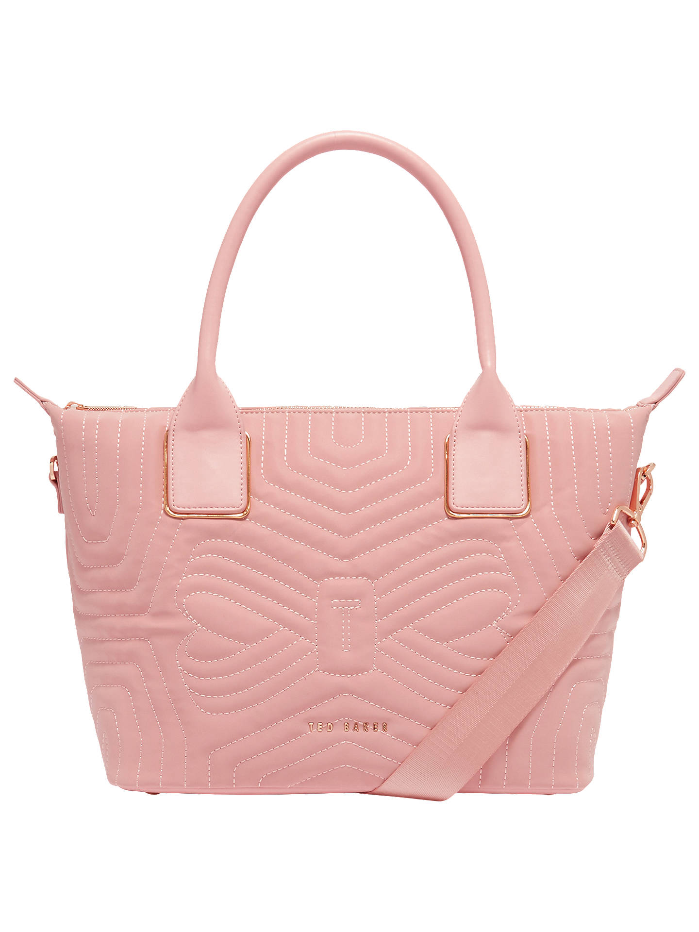 Ted Baker Carisee Quilted Tote Bag Dusky Pink Online At Johnlewis