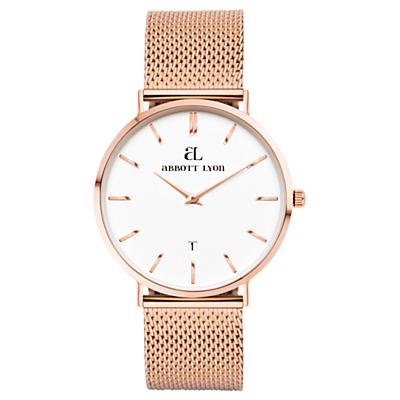 Abbott Lyon Women's Kensington 34 Date Mesh Bracelet Strap Watch