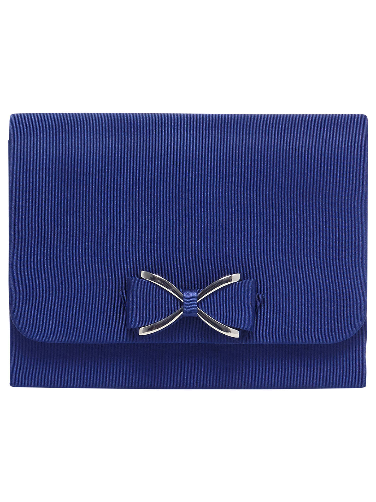 b92760dff66aef Buy Phase Eight Amelia Bow Front Clutch Bag, Sapphire Blue Online at  johnlewis.com ...