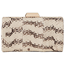 Buy Reiss Hoxton Snake Skin Clutch, Multi Online at johnlewis.com