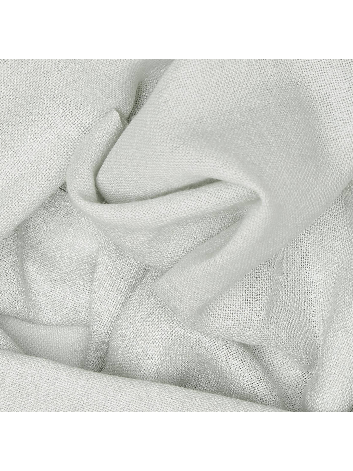 Buy Reiss Flora Plain Weave Stole, Light Grey Online at johnlewis.com