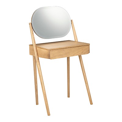 House by John Lewis Bow Dressing Table, Oak